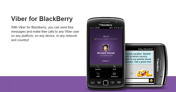 viber pour blackberry torch 9800