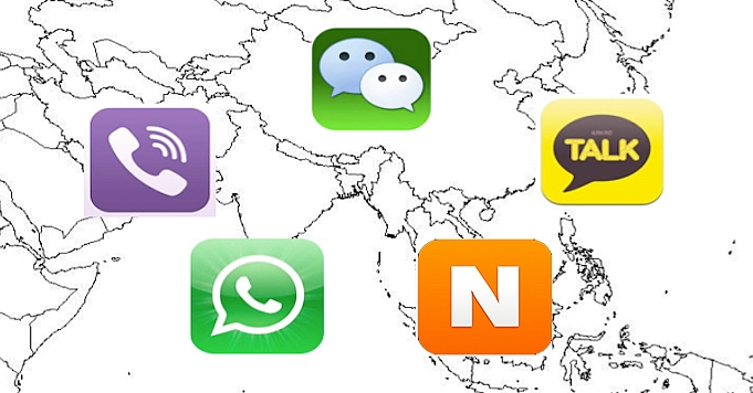 Top 5 Messaging Apps in Asia